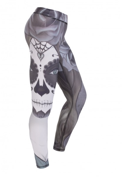 LEGGINSY REP IN PEACE SANTA MUERTE 1134