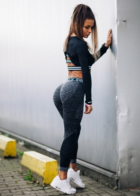 GYM HERO - LEGGINSY BEZSZWOWE GREY FIT