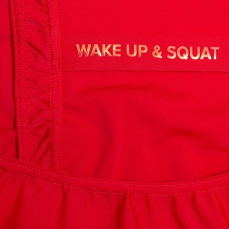 WAKE UP AND SQUAT - BODY/STRÓJ KĄPIELOWY (RED)