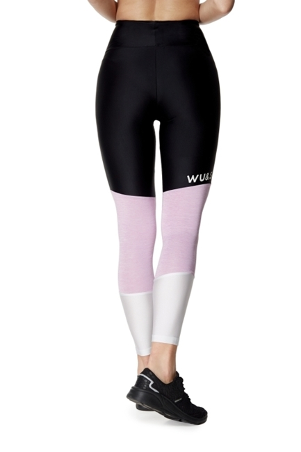 WAKE UP AND SQUAT - LEGGINSY NEVER STOP (lila)