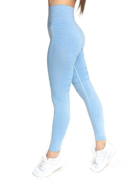 "LEGGINSY BEZSZWOWE ""24H"" BLUE MELANGE (PUSH UP)"