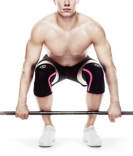 Rehband - stabilizator kolana Rehband 105434 Rx 7 mm  czarno różowy