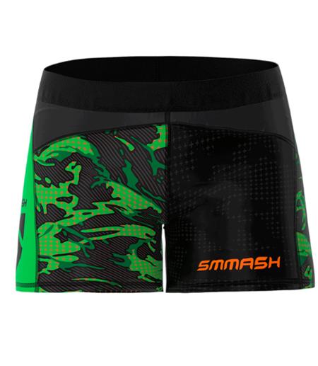 SMMASH - LEGGINSY SHORT L4 MILITARY (PUSH UP)