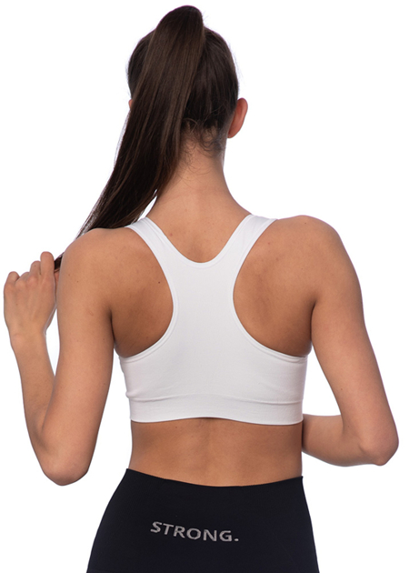 STRONG. - BEZSZWOWY BRA TOP (WHITE)