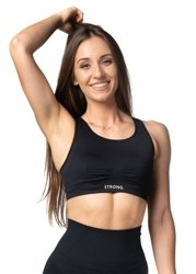 STRONG. - BEZSZWOWY BRA TOP (BLACK)
